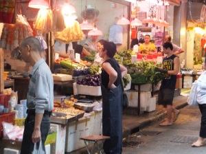 A market stall in Wan Chai