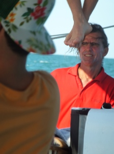 Doug, the skipper of the 'Falla'