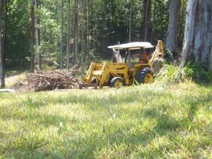Chris at work in one of his two tractors