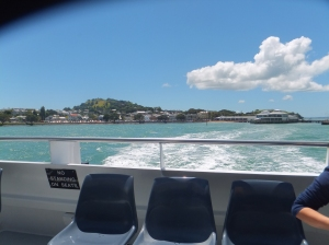 Looking back at Devonport on the north shore