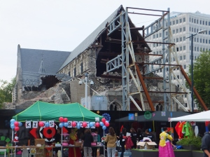 What's left of Christchurch cathedral