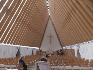 The new 'temporary' cardboard cathedral