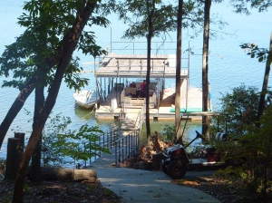 Trish & Chris' boat dock on Lake Hartwell