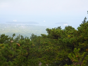 Bar Harbor from Mt Champlain