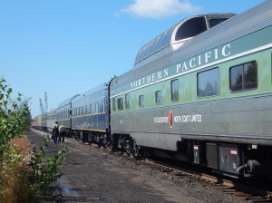 Vintage railroad cars