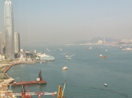 Hong Kong Harbour late afternoon