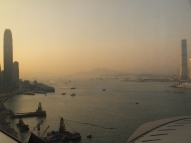 The harbour at sunset