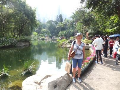 Katharine in Hong Kong Park