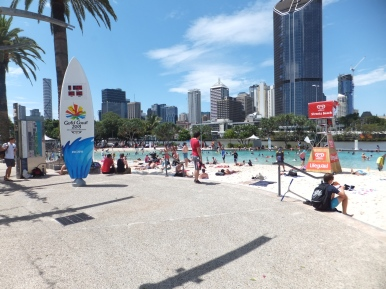 Summer beach in Brisbane