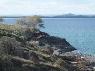 The coastline above Evans Head
